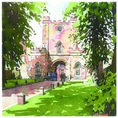 Stephen Ward Durham Castle Watercolour