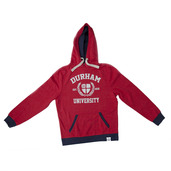 NEW! Fairtrade Quilted Hoody Red Marl