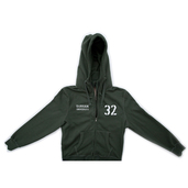 Double Zip Hoody - Khaki Green