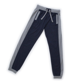 Contrast Panel Sweatpants - blue/grey
