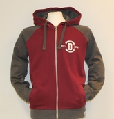 Fairtrade Contrast zip-up Hoody - Wine