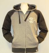 Fairtrade Contrast zip-up Hoody - Grey