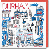 Durham Cityscape - Greeting Card