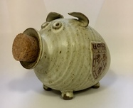Hatfield College Pig Money Box - Cream