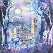 Jenny Ulyatt - 'Durham Cathedral In Moonlight'