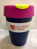 Van Mildert College Keep Cup in Navy with Pink Lid