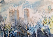 Jenny Ulyatt - 'Misty Morning at Durham Cathedral'