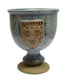 Hatfield College Ceramic Wine Goblet - Speckled Blue