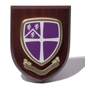 Wooden Shield Wall Plaque