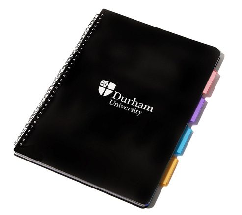 4 Subject A4 Notebook Black