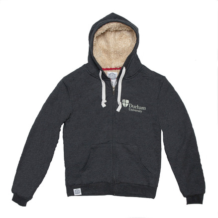Fairtrade Chunky Zip Hoody Charcoal