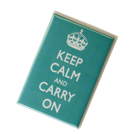 Keep Calm & Carry On Magnet Aqua