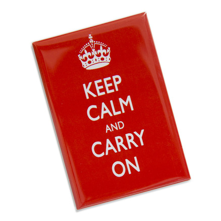 Keep Calm & Carry On Magnet Red