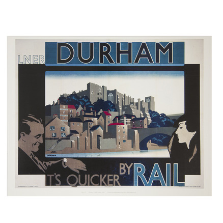 Durham: Quicker By Rail Print