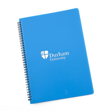 A4 Polyprop wiro Notebook Blue
