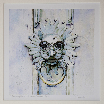 Stephen Ward Sanctuary Knocker Watercolour