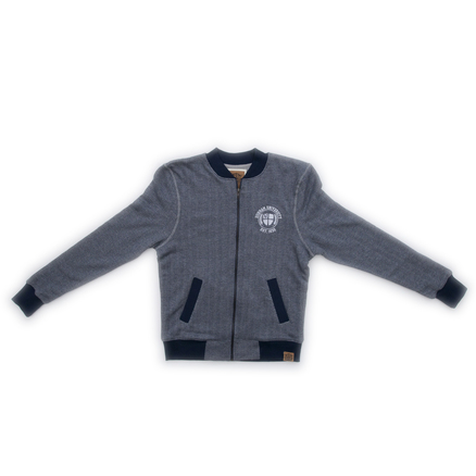 Bomber Jacket - Navy/Grey