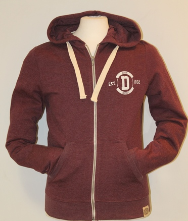 Fairtrade Zip-up Hoody - Plum