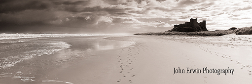 Bamburgh Castle, Sepia - Large