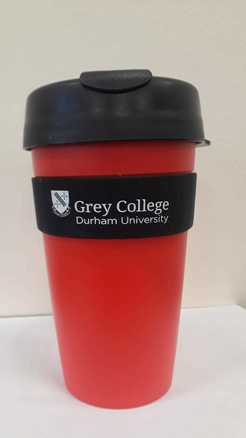 Grey College Keep Cup with Black Lid