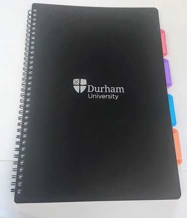 University A4 4-Subject Notebook - Black