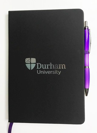 Durham University A5 Black Notebook and Pen