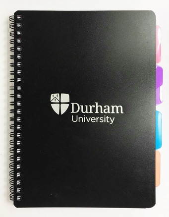 University A5 4-Subject Notebook - Black