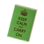 Keep Calm & Carry On Magnet Green