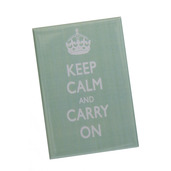 Keep Calm & Carry On Magnet Blue