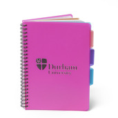 4 Subject A5 Notebook Pink