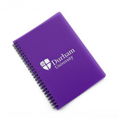A5 Polyprop wiro notebook Purple
