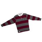 Striped Rugby shirt Berry/Grey