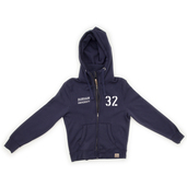 Double Zip Hoody - Navy Blue