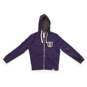 Lightweight  Zip-up Hoody - Purple