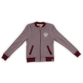 Bomber Jacket - Oxblood/Grey