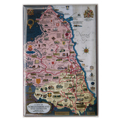 Northumberland and Durham Map Magnet - Portrait