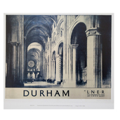 Cathedral Interior Durham Rail Print