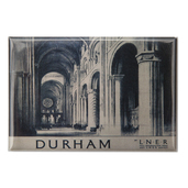 Cathedral Interior Durham Rail Magnet