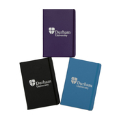 A5 Leather Look Notebook - Purple