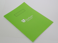 A4 Lined Exercise Book Green