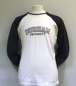 Fairtrade Baseball Long-Sleeved T-Shirt - White/Charcoal