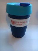 Van Mildert College Keep Cup in Navy with Blue Lid