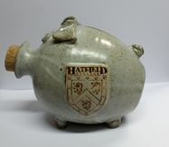 Hatfield College Pig Money Box - Grey