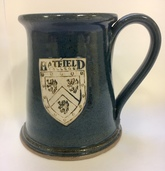 Hatfield College Ceramic Tankard - Dark Blue
