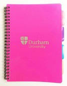 University A5 4-Subject Notebook - Pink