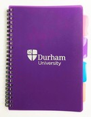 University A5 4-Subject Notebook - Purple