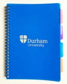 University A5 4-Subject Notebook - Blue