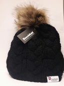 University Pom Pom Beanie Hat - Black