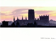 John Erwin Card Cathedral Sunset Durham