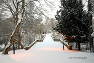 Prebends Bridge Snow Large Print